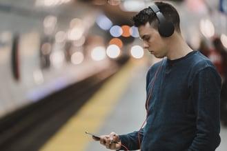 Guy on headphones