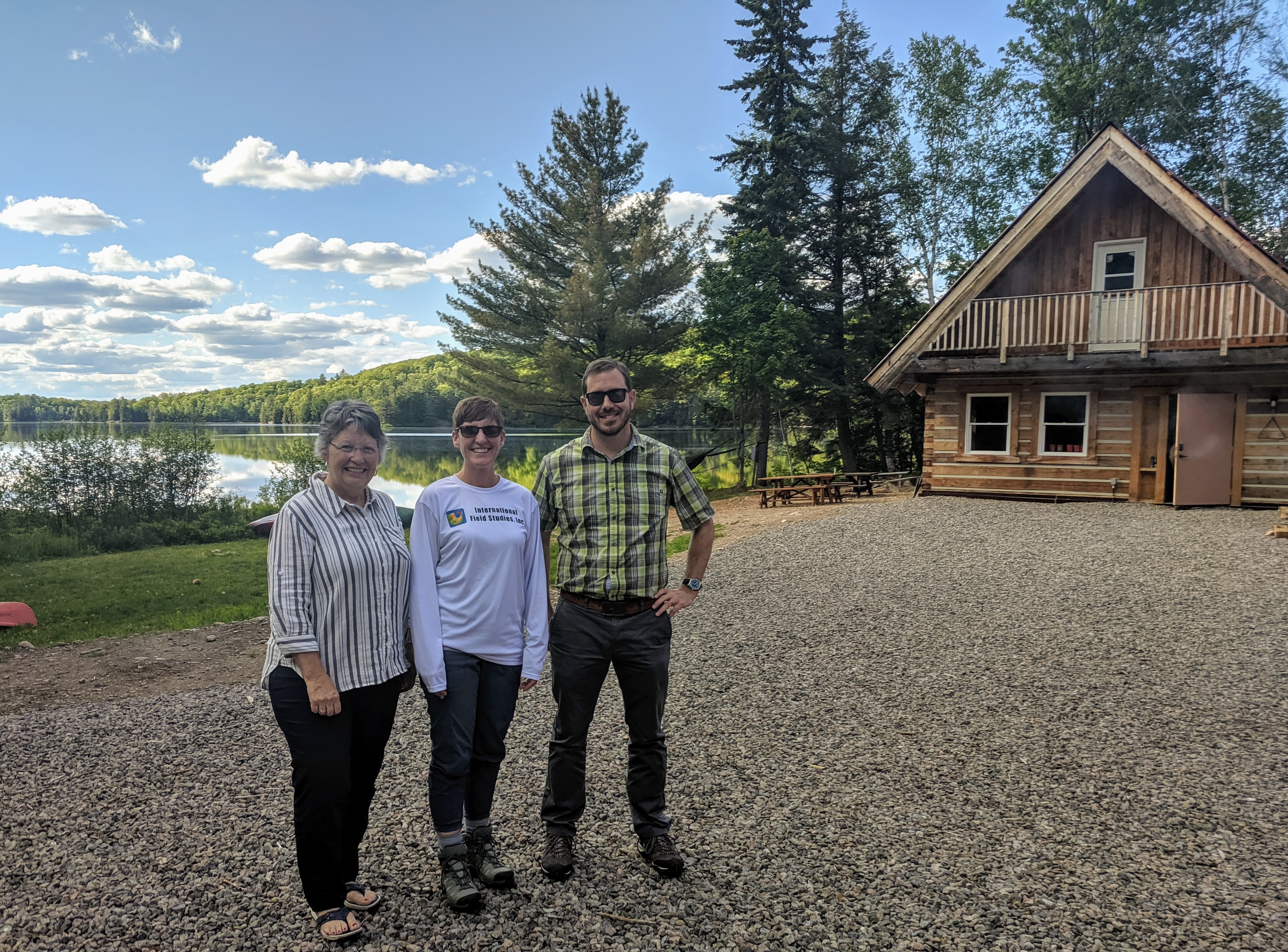 Dr. Betty Young, Dr. Myriah Davis, and Dr. Daniel Kelley from Hocking College Visit Haliburton Forest | Hocking College Celebrates 25 Years of Partnership with Haliburton Forest