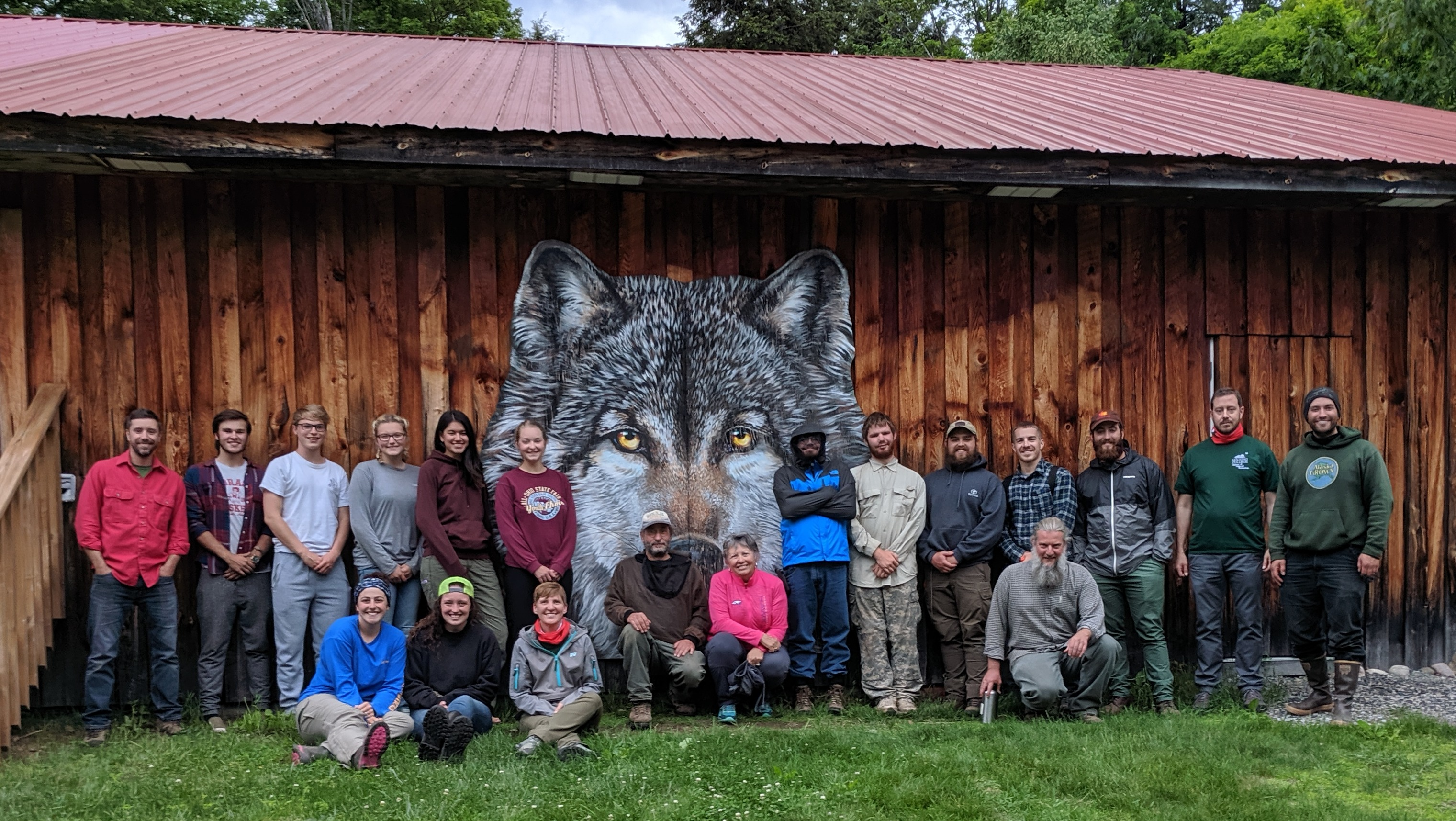 Students pose for photo in front of cabin at Haliburton Forest | Hocking College Celebrates 25 Years of Partnership with Haliburton Forest