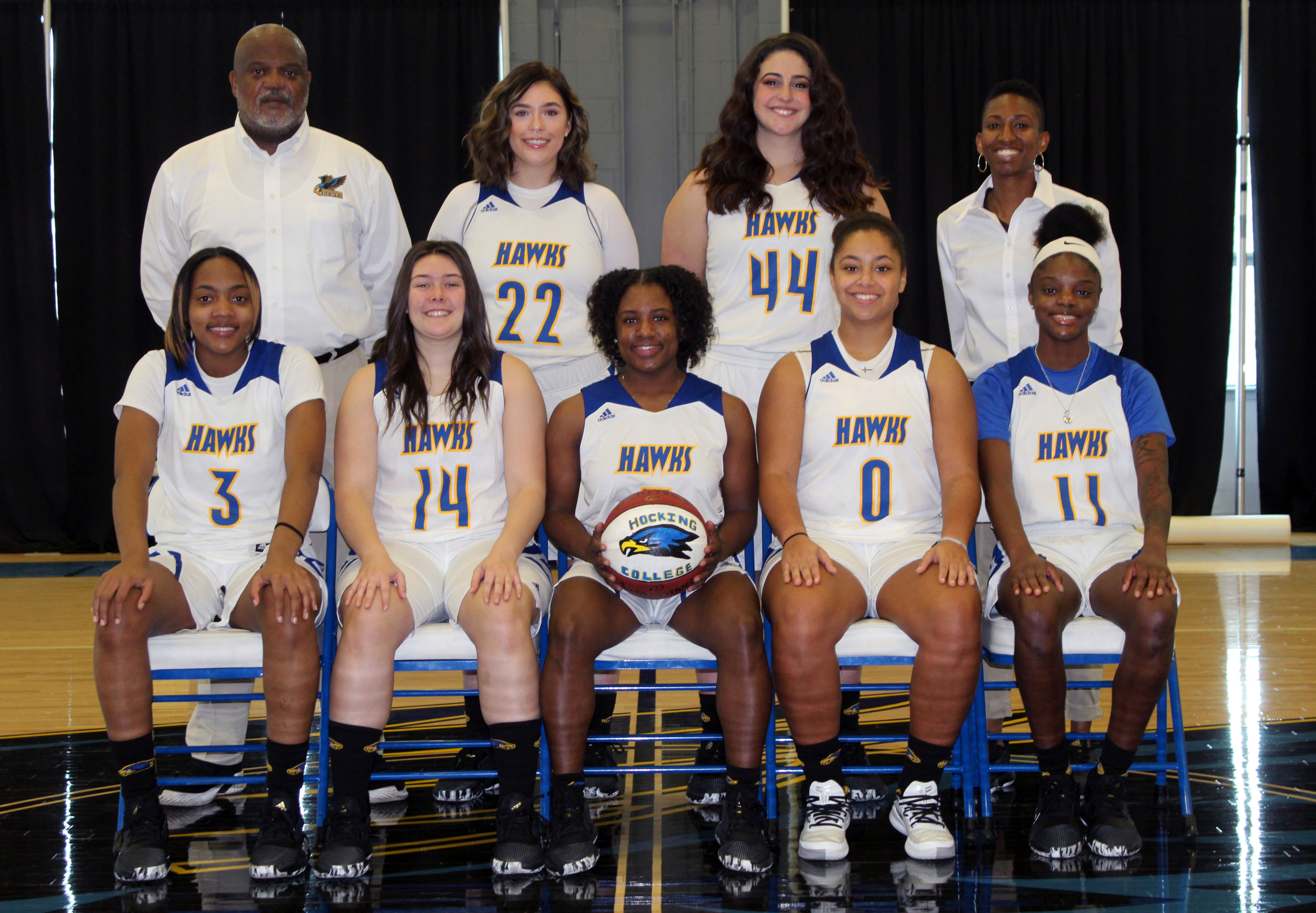 2019-2020 Hocking College Women's Baseketball team
