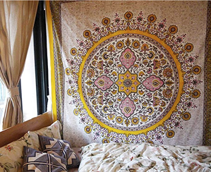Colorful Tapestry | 15 Ways to Decorate Your Dorm Without Breaking the Bank