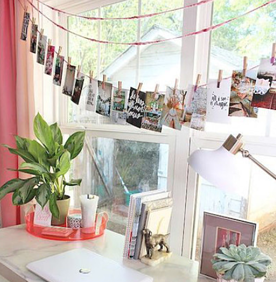 Budget-Friendly and Space-Saving Photo Display | 15 Ways to Decorate Your Dorm Without Breaking the Bank