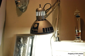 Star Wars Inspired Lamp | 15 Ways to Decorate Your Dorm Without Breaking the Bank