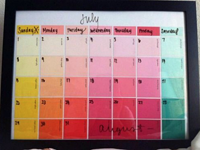 Colorful DIY Dry-Erase Calendar | 15 Ways to Decorate Your Dorm Without Breaking the Bank