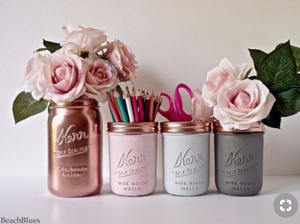 Rose-Gold Storage Containers | 15 Ways to Decorate Your Dorm Without Breaking the Bank