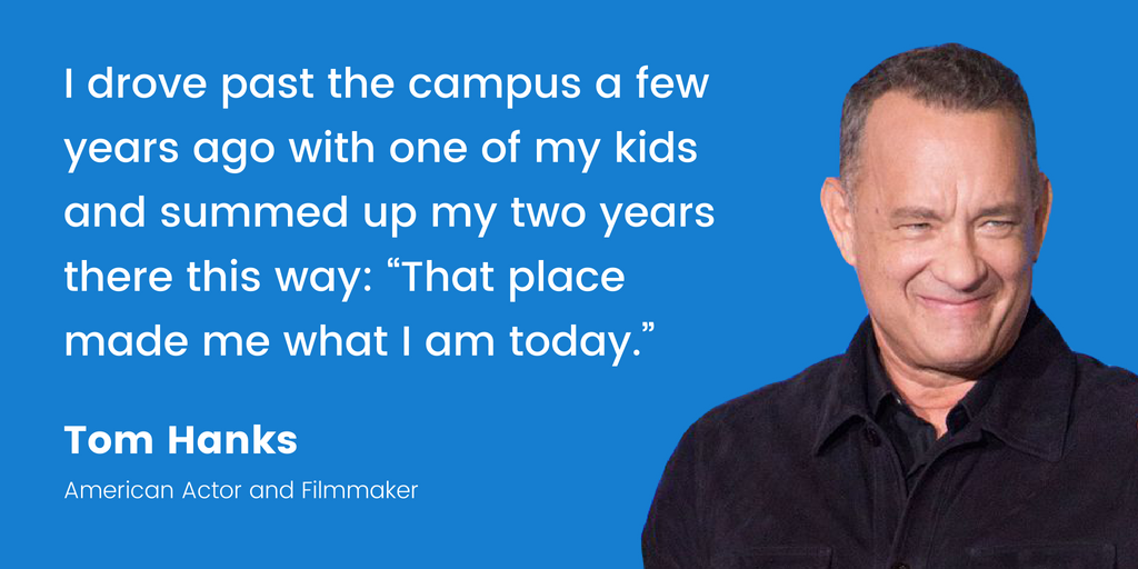 Tom Hanks | 16 Famous Celebrities Who Attended Community College