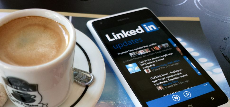 coffee and iphone - Linkedin
