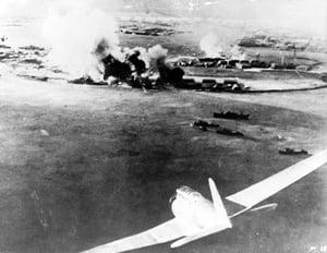 ariel photo of Pearl Harbor