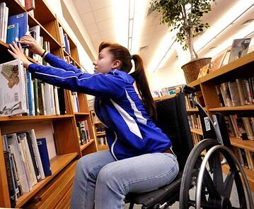 library wheelchair