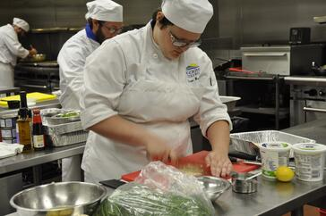 Student Prepping Food from Culinary Arts Degree Program at Hocking College | Five Cool New Jobs in the Culinary Industry