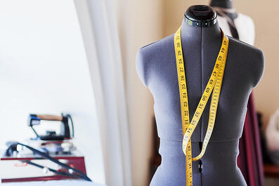 Black dummy with measuring tape in tailors studio | New Fashion Design Program Debuts Autumn 2020