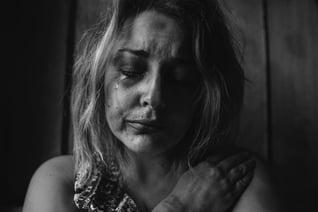 lady crying